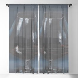 Glass, alcohol, oil painting by Luna Smith, LuArt Gallery Sheer Curtain