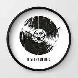 History of Hits Wall Clock