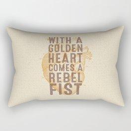 Golden Heart Rectangular Pillow