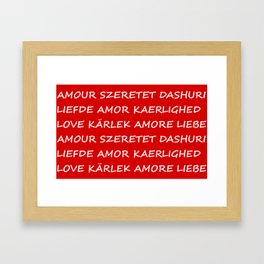 Love International Framed Art Print