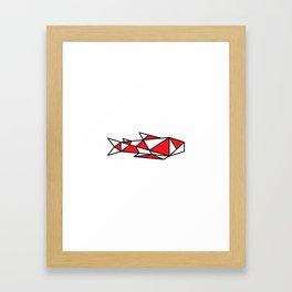 Japanese Inspired Matsuba Koi Framed Art Print