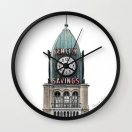 The Gem City Clock Wall Clock