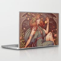 mucha Laptop & iPad Skins featuring BOHEMIA by Medusa Dollmaker