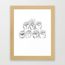 Awesome American Sign Language design Gift Awesome ASL graphic Framed Art Print