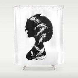 Owlphelia Silhouette Shower Curtain