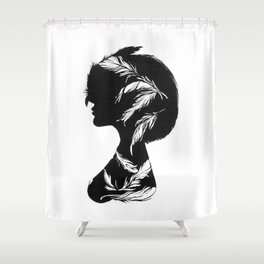 Owlphelia Silhouette Shower Curtain