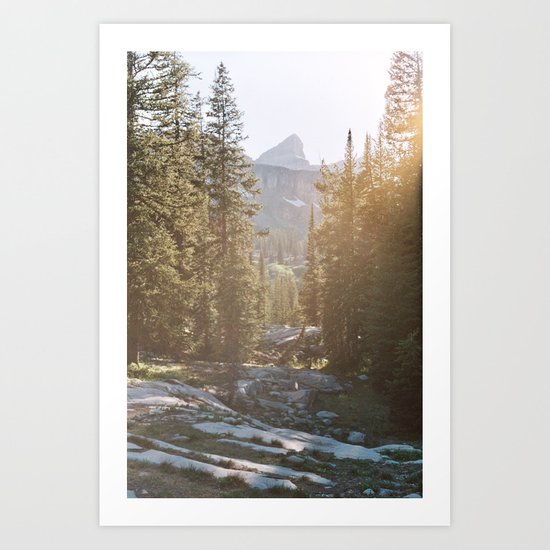 Sunset in the Backcountry Art Print
