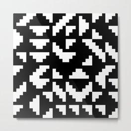 Truchet Tiles Metal Print