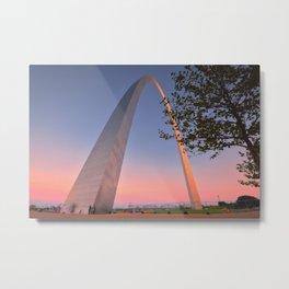 Gateway Arch at sunset in St. Louis, Missouri. Metal Print