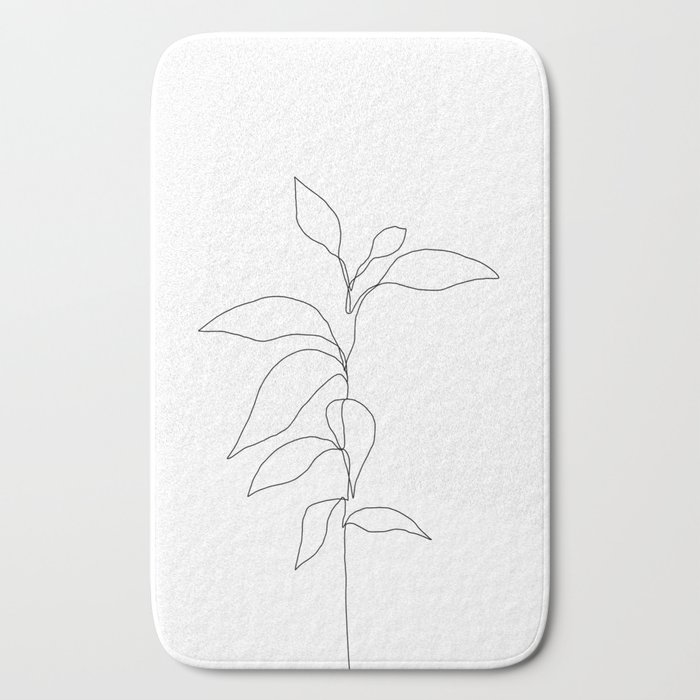 Single line plant drawing - Danya Bath Mat