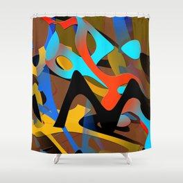 wave fx miro Shower Curtain