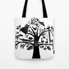 :) animals on tree Tote Bag