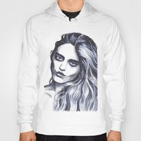 sky ferreira Hoodies featuring Sky Ferreira by Hedi Slimane by Asquared2Art