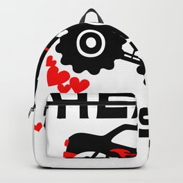 Vintage Valentines Day Heart Crusher Backpack