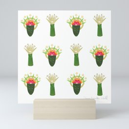 Palm Leaf and Flower Offerings Mini Art Print