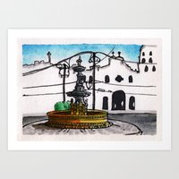 philippines Art Prints featuring Philippines : Carriedo Fountain by Ryan Sumo
