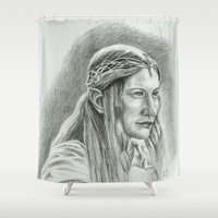 lotr Shower Curtains featuring Galadriel by Catru