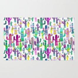 Watercolor Cacti - Pinks - Saguaros Rug