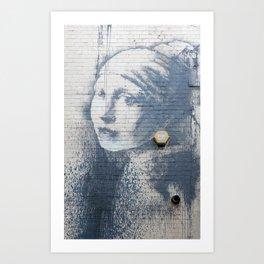"Banksy ""Girl with a Burst Eardrum"" Art Print"