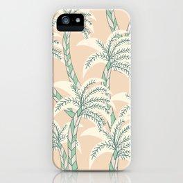 Palm Beach | Palm Tree Pattern | Green iPhone Case