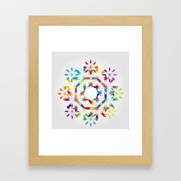 A large Colorful Christmas snowflake pattern- holiday season gifts- Happy new year gifts Framed Art Print