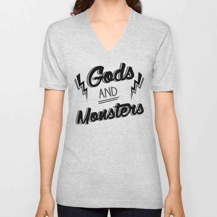 Gods and monsters 3 Unisex V-Neck