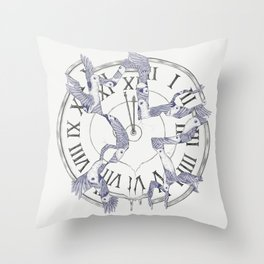 Existence with Time (Time Travelers) Throw Pillow