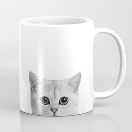 Peeping Tom cat Coffee Mug