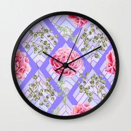 floral pattern ci Wall Clock