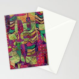 Wine Glass Abstract Art Decor Stationery Cards