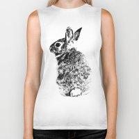 rabbit Biker Tanks featuring Rabbit by Anna Shell