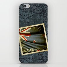 Grunge sticker of New Zealand flag iPhone & iPod Skin