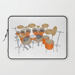 Orange Drum Kit Laptop Sleeve