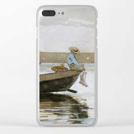 Boys in a Dory by Winslow Homer, 1873 Clear iPhone Case