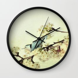 Nuthatch Bird Spring Flower Farmhouse Art Country Home Decor  A131 Wall Clock