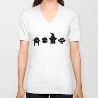 gandalf V-neck T-shirts featuring legolas, frodo, gandalf & gollum by atipo
