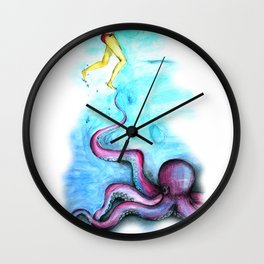 She & The Octupus Wall Clock