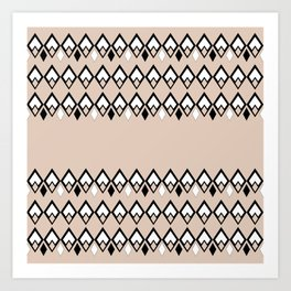 Beige ethnic pattern . Art Print