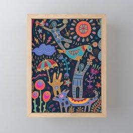 Balancing Act Framed Mini Art Print