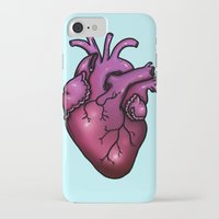 anatomical heart iPhone & iPod Cases featuring Anatomical Heart by Hungry Designs