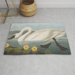 Common American Swan by John James Audubon Rug