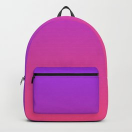 Bright Neon Ultra Violet Pink Gradient Pattern Backpack