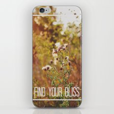 find your bliss. iPhone Skin