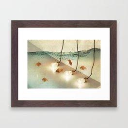 ideas and goldfish Framed Art Print