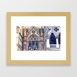 entrance to the Doge's Palace, Venice Framed Art Print