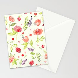Watercolor Rose Garden Stationery Cards