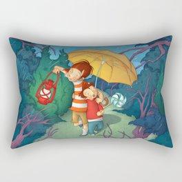 Children On Nocturnal Forest Rectangular Pillow