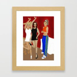 "Wannabe ""Slam your body down and wind it all around"" Framed Art Print"