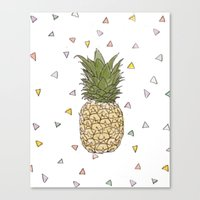 pinapple Canvas Prints featuring Pinapple by surfed