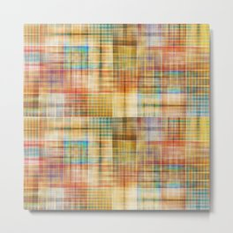 Multicolored patchwork mosaic pattern Metal Print